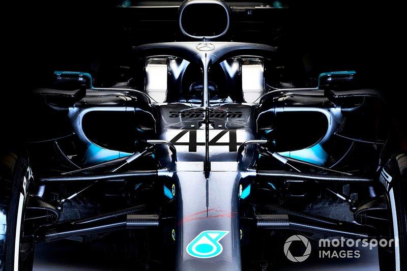 El coche de Lewis Hamilton Mercedes AMG F1 W10