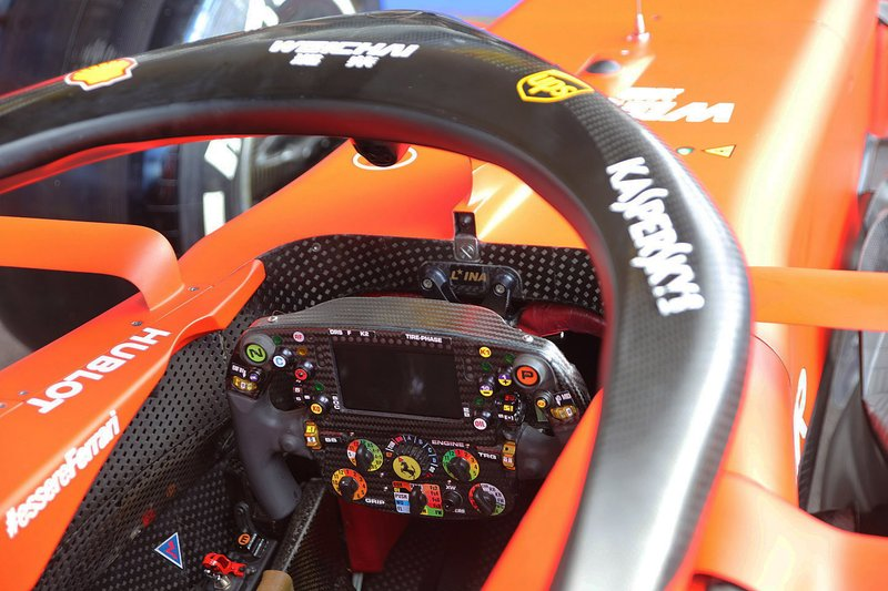 Ferrari SF90 cockpit detail