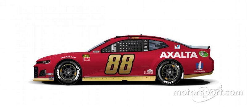 Alex Bowman lembrará o carro de Tim Richmond de 1986 e 1987