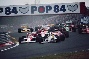 Start zum GP Ungarn 1989 in Budapest: Riccardo Patrese, Williams FW12C, führt