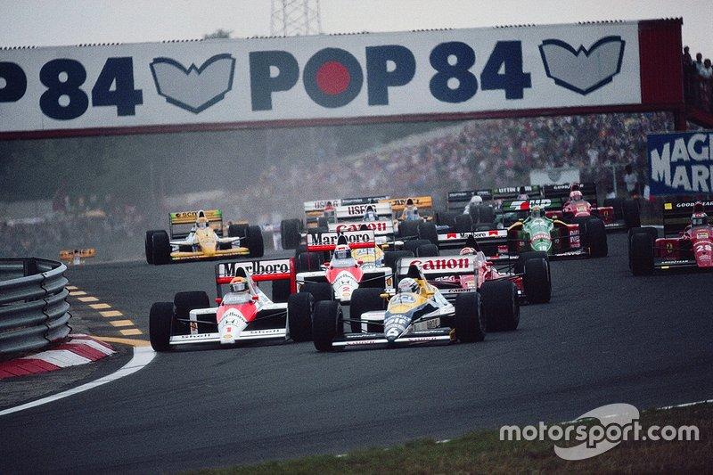Riccardo Patrese, Williams, Ayrton Senna, McLaren, Alex Caffi, Dallara, Alain Prost, McLaren