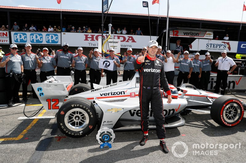 Will Power, Team Penske Chevrolet wins the NTT P1 Award and pole, with team