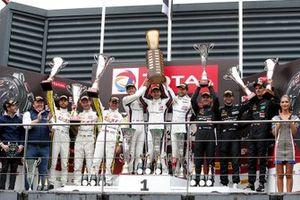Podium: Winners #20 GPX Racing Porsche 911 GT3 R: Kevin Estre, Michael Christensen, Richard Lietz, second place #998 ROWE Racing Porsche 911 GT3 R: Frédéric Makowiecki, Patrick Pilet, Nick Tandy, third place #4 Mercedes-AMG Team Black Falcon Mercedes-AMG GT3: Yelmer Buurman, Luca Stolz, Maro Engel