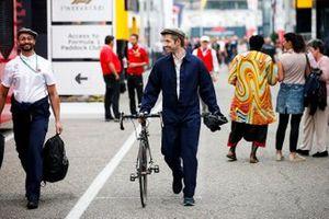 Mercedes AMG F1 team member in the paddock