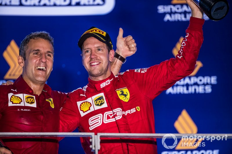 Rueda e Vettel