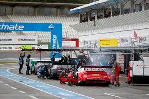 Smoke on the car of René Rast, Audi Sport Team Rosberg, Audi RS 5 DTM