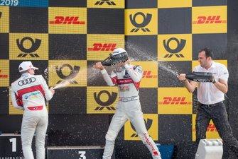 Podium: Race winner Nico Müller, Audi Sport Team Abt Sportsline, second place Robin Frijns, Audi Sport Team Abt Sportsline