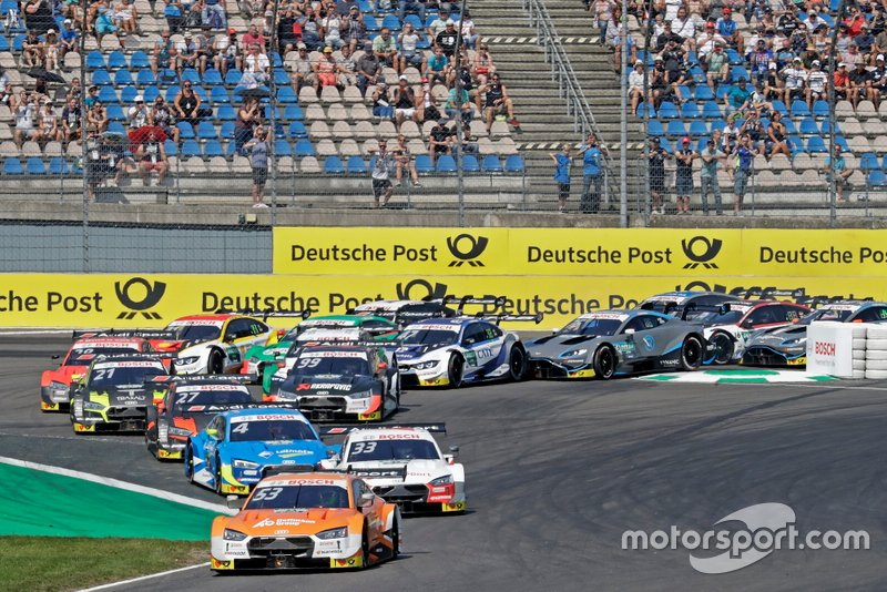 Acción en la salida: Jamie Green, Audi Sport Team Rosberg, Audi RS 5 DTM