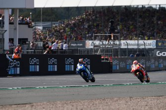 Race winner Alex Rins, Team Suzuki MotoGP, second place Marc Marquez, Repsol Honda Team