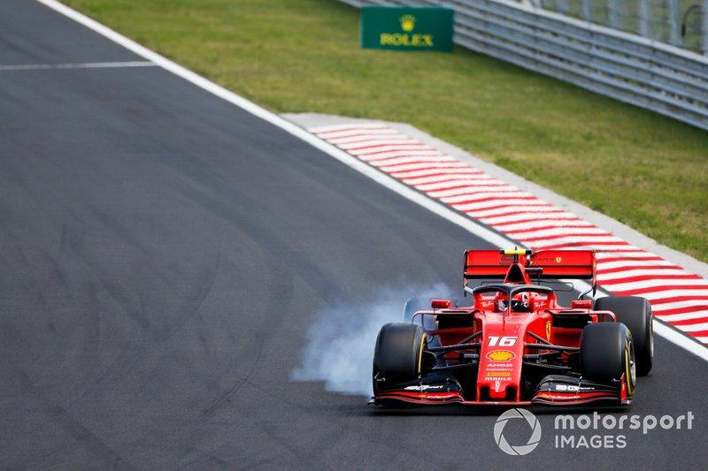 Charles Leclerc, Ferrari SF90 bloquea