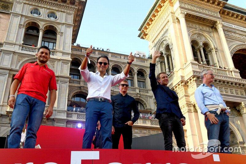 Felipe Massa, Kimi Raikkonen, Eddie Irvine, Giancarlo Fisichella