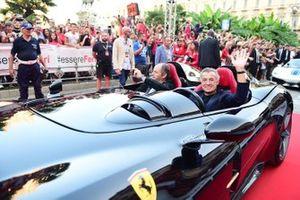 Jean Alesi with Gerhard Berger