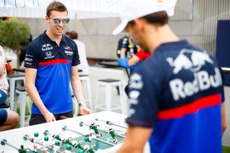 Daniil Kvyat, Toro Rosso and Pierre Gasly, Toro Rosso play table football