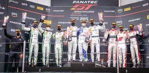 Podium: Race winner #88 AKKA ASP Mercedes-AMG GT3: Raffaele Marciello, Jules Gounon, Daniel Juncadella, second place #54 Dinamic Motorsport Porsche 911 GT3-R: Matteo Cairoli, Christian Engelhart, Klaus Bachler, #32 Team WRT Audi R8 LMS GT3: Charles Weerts, Dries Vanthoor, Robin Frijns