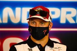Kimi Raikkonen, Alfa Romeo Racing, allla conferenza stampa