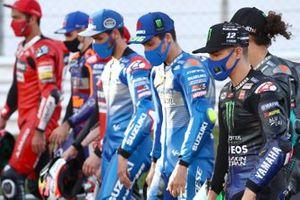 Gruppenfoto: Rennsieger der MotoGP-Saison 2020