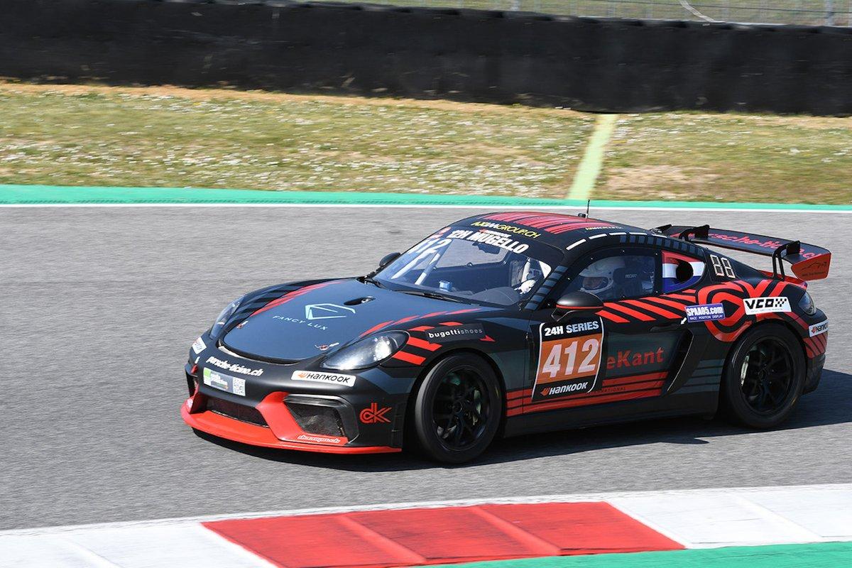 #412 Centri Porsche Ticino: Christian de Kant, Thomas Herbst, Antonio Spavone, Valerio Presezzi, Alessandro Fogliani, Porsche 718 Cayman GT4 CS