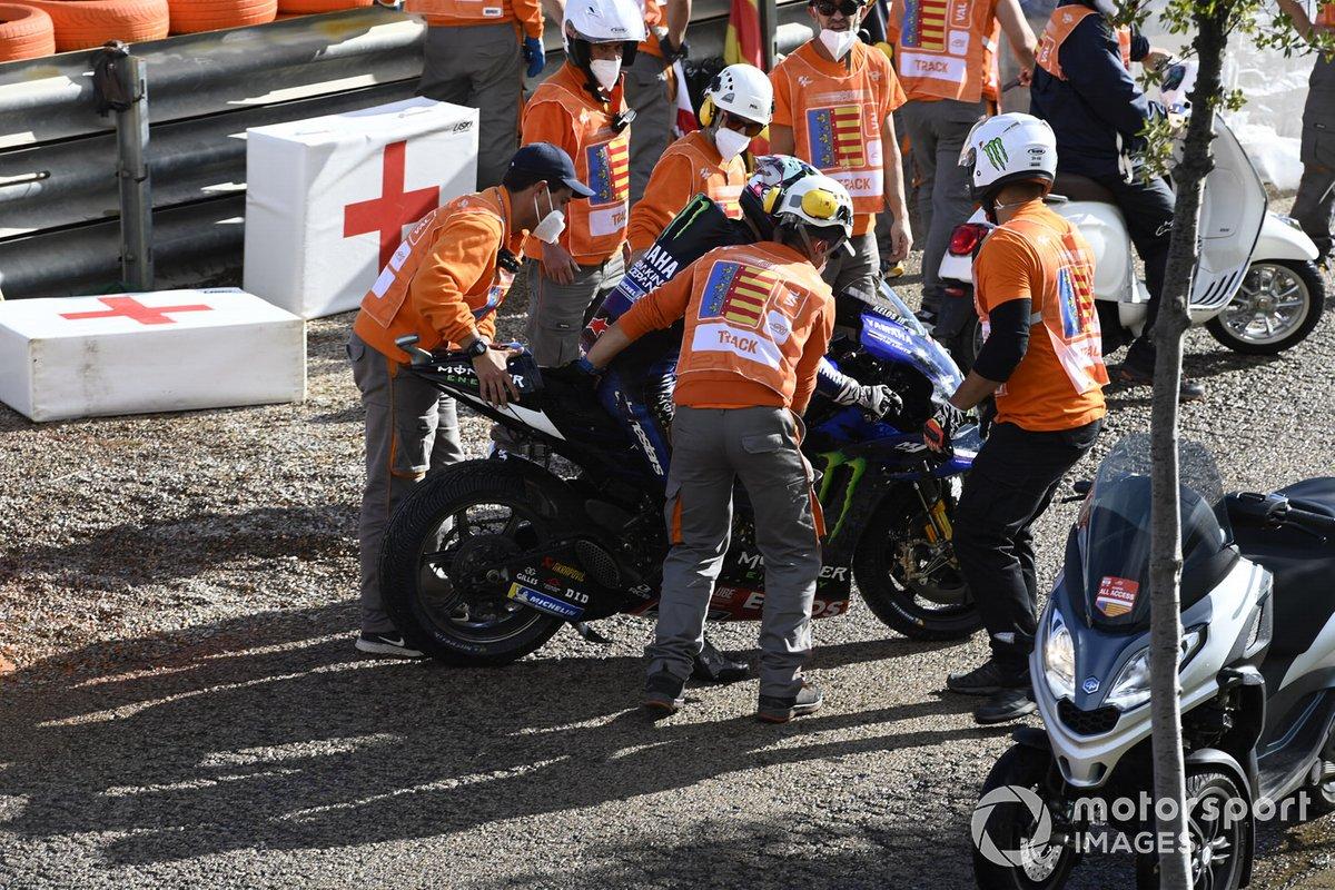 Maverick Viáales, Yamaha Factory Racing caída
