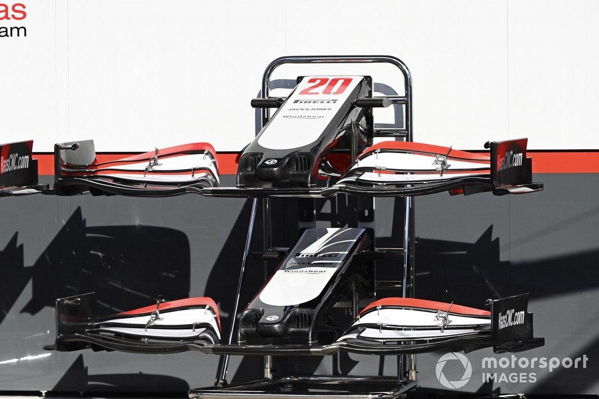 El alerón delantero del Haas VF-20