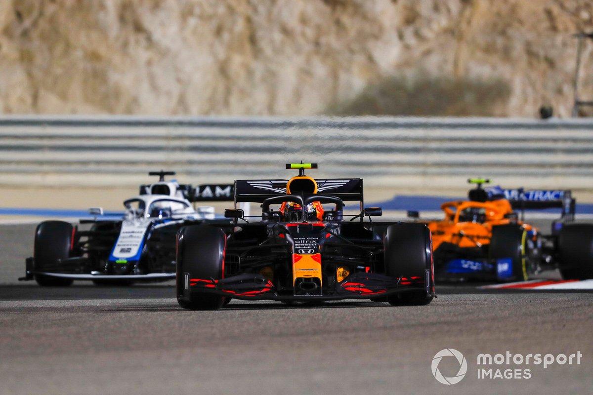 Alex Albon, Red Bull Racing RB16, Jack Aitken, Williams FW43, Lando Norris, McLaren MCL35