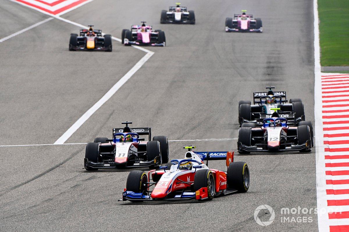 Robert Shwartzman, Prema Racing, Louis Deletraz, Charouz Racing System y Pedro Piquet, Charouz Racing System