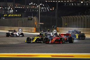 Charles Leclerc, Ferrari SF1000, Esteban Ocon, Renault F1 Team R.S.20, Daniel Ricciardo, Renault F1 Team R.S.20, and Carlos Sainz Jr., McLaren MCL35
