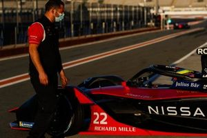 Nissan e.Dams team member in the pit lane