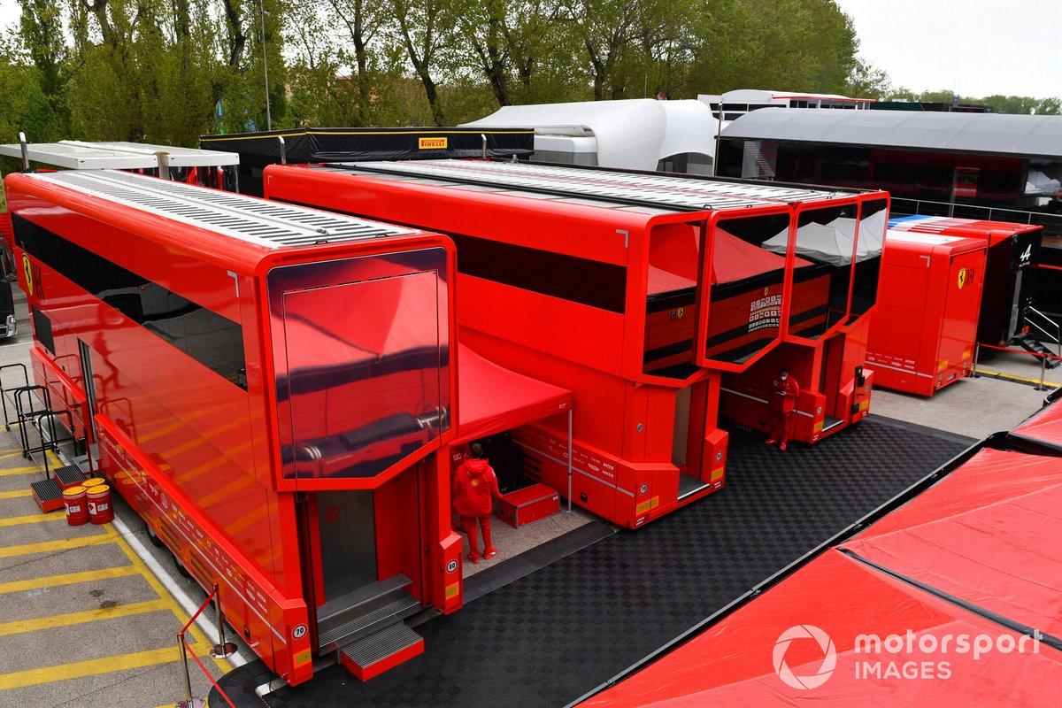 El motorhome de Ferrari