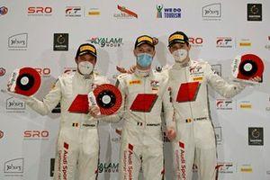 Podio: #32 Audi Sport Team WRT Audi R8 LMS GT3: Mirko Bortolotti, Charles Weerts, Frederic Vervisch