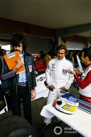 Carlos Reutemann, Brabham BT44B, mit Gordon Murray