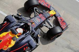 Max Verstappen, Red Bull Racing RB16B, leaves the garage