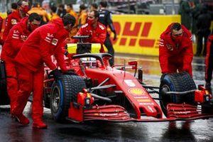 Sebastian Vettel, Ferrari SF1000 on the grid