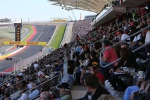 Fans in the main grandstand