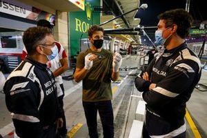 Romain Grosjean, Haas F1 meets the marshals and medical staff including Doctor Ian Roberts, medical car driver Alan van der Merwe who helped him in his crash at last Grand Prix