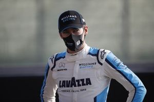 George Russell, Williams Racing, on the grid for the end of season photo