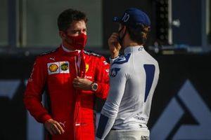 Charles Leclerc, Ferrari, and Pierre Gasly, AlphaTauri