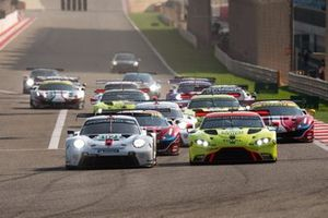 #92 Porsche GT Team Porsche 911 RSR: Michael Christensen, Kevin Estre, #95 Aston Martin Racing Aston Martin Vantage AMR: Marco Sorensen, Nicki Thiim