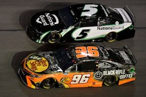 Ty Dillon, Gaunt Brothers Racing, Toyota Camry Bass Pro Shops / Black Rifle Coffee Kyle Larson, Hendrick Motorsports, Chevrolet Camaro NationsGuard