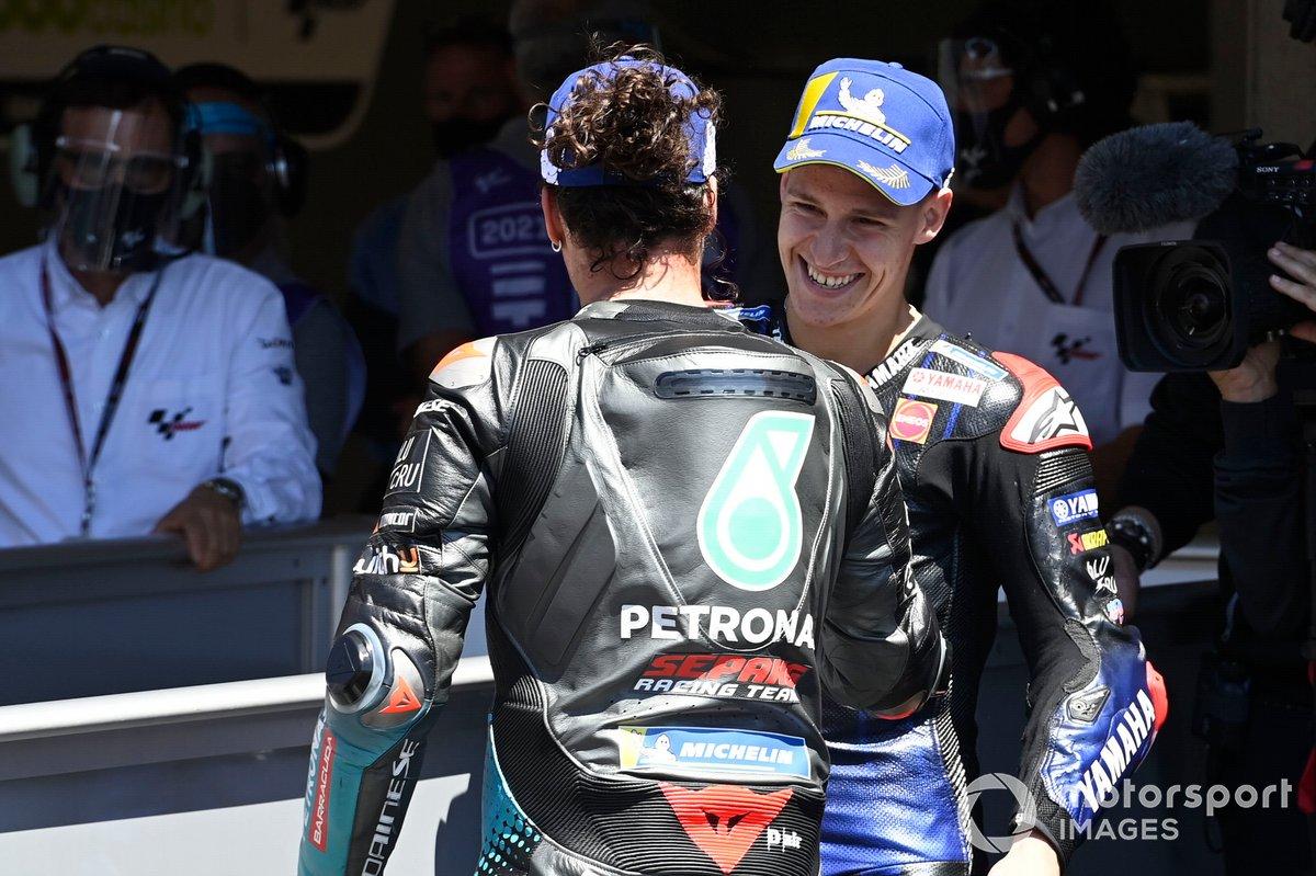 Fabio Quartararo, Yamaha Factory Racing, Franco Morbidelli, Petronas Yamaha SRT