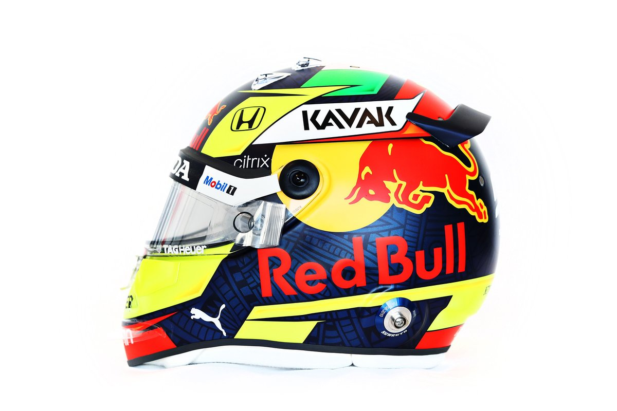 Casque de Sergio Perez, Red Bull Racing
