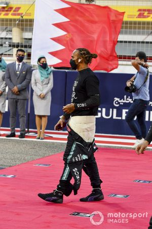 Lewis Hamilton, Mercedes, on the grid