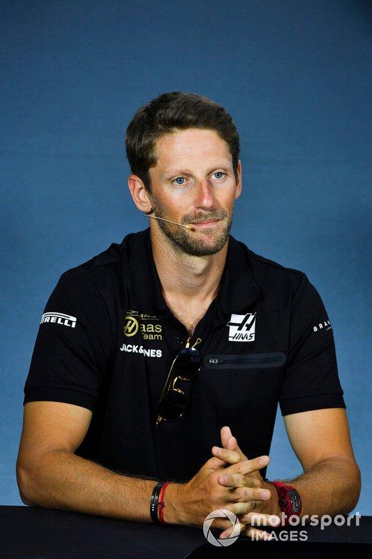 Romain Grosjean, Haas F1 in Press Conference