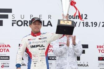 Podium: race winner Yuhi Sekiguchi, Team Impul