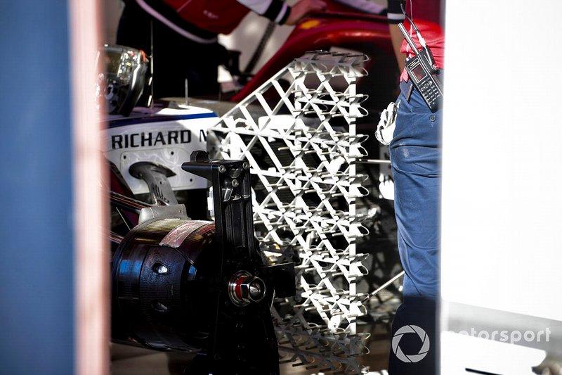 Detalle de la aerodinámico Alfa Romeo Racing C38