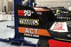 New rear endplates on the Ford Mustang for Chaz Mostert, Tickford Racing