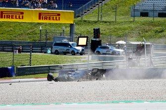 Crash of Valtteri Bottas, Mercedes AMG W10