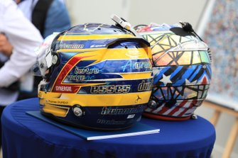 Il casco del #3 Rebellion Racing Rebellion R-13: Thomas Laurent