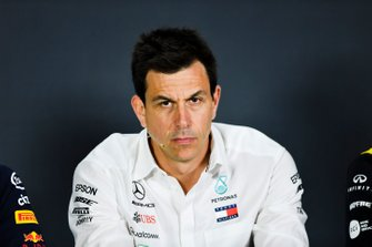 Toto Wolff, Executive Director (Business), Mercedes AMG In the Press Conference