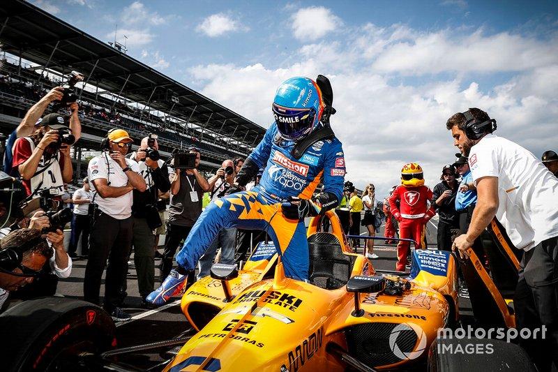 Las fotos de Alonso en Indy 500