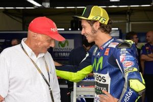 Niki Lauda et Valentino Rossi, Yamaha